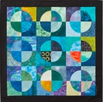 Green Grapes - Quilted Fiber Art Wallhanging