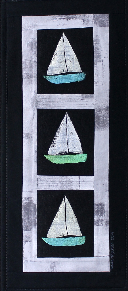Sailboats Gray stone