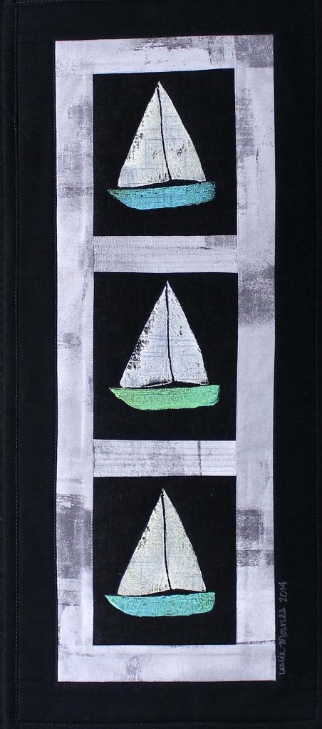 Sailboats Gray stone