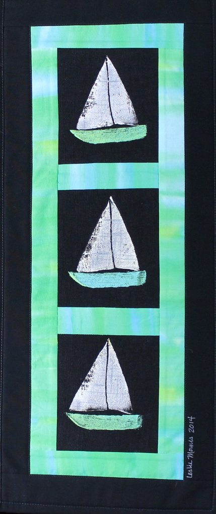 Sailboats Green Varigated