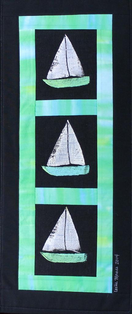 Sailboats Green Varigated