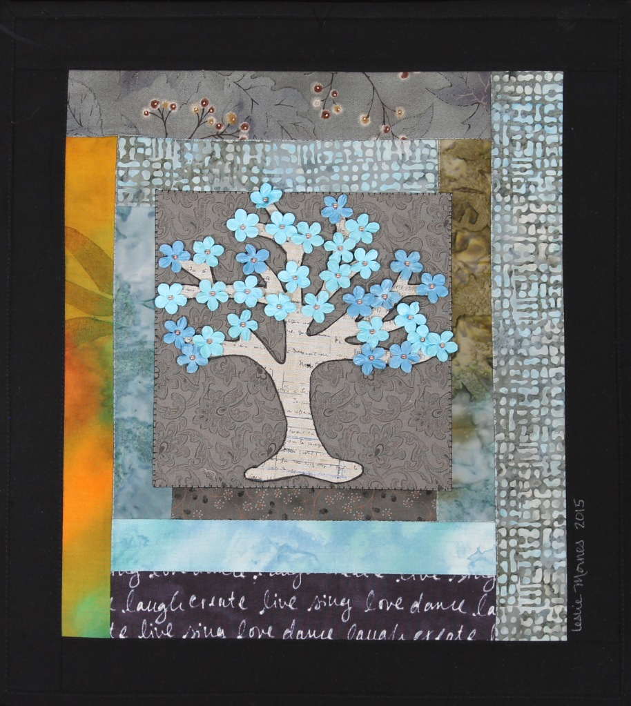 Tree blue floral