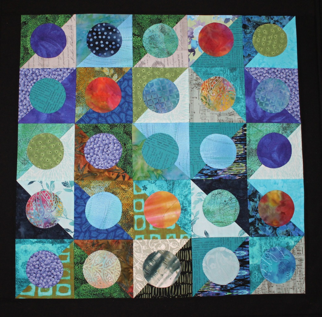 Blue Diagonal circles 2017